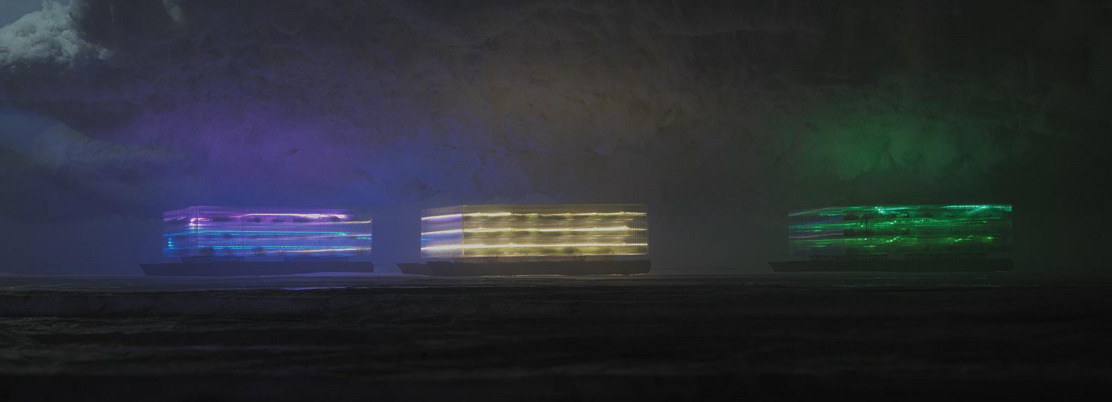 edwin zwakman, glass house, at night i see the future